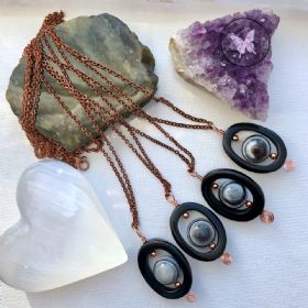 Bulls Eye Agate Protection Necklace